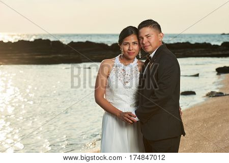 Portrait Of Young Hispanic Married Couple