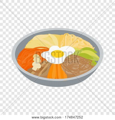 Korean food isometric icon 3d on a transparent background vector illustration