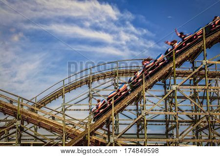 A summer day on a roller coaster!