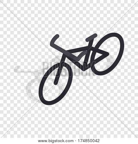 Black bike isometric icon 3d on a transparent background vector illustration