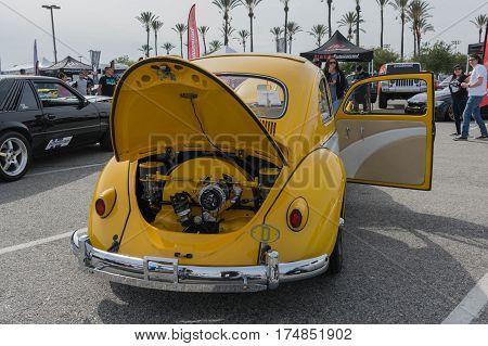 Classic Volkswagen Beetle Car On Display