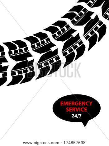emergency service background, vector design, eps10 illustration