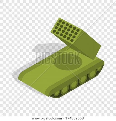 Multiple launch rocket system isometric icon 3d on a transparent background vector illustration
