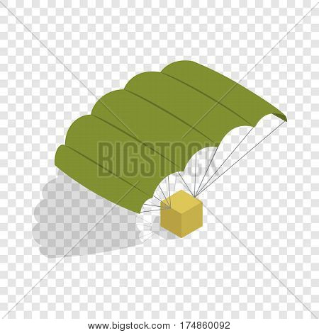 Military parachute isometric icon 3d on a transparent background vector illustration
