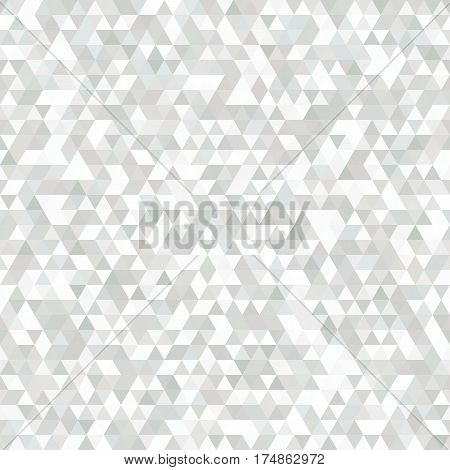 Delicate Grey and White Seamless Pattern of Symmetric Triangles. Delicate Pale Pattern for Business Presentations Publications Banners. Geometric Concept.