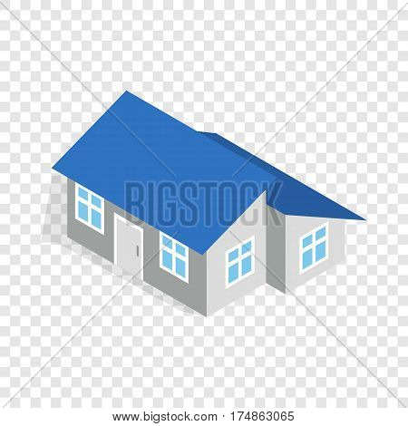 House with annexe isometric icon 3d on a transparent background vector illustration