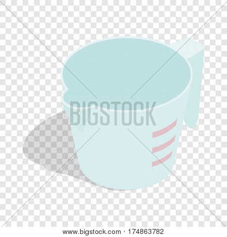 Measuring cup isometric icon 3d on a transparent background vector illustration