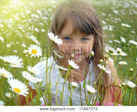 Hiding behind the flowers