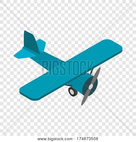 Light aircraft isometric icon 3d on a transparent background vector illustration