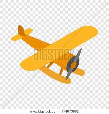 Orange plane isometric icon 3d on a transparent background vector illustration