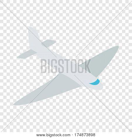 Passenger plane isometric icon 3d on a transparent background vector illustration