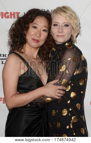 LOS ANGELES - MAR 2:  Sandra Oh, Anne Heche at the