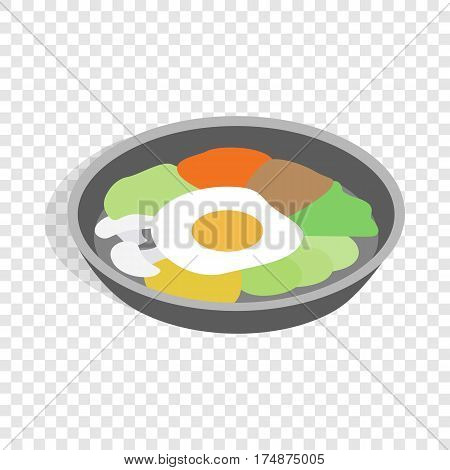 Korean national dish bibimbap isometric icon 3d on a transparent background vector illustration