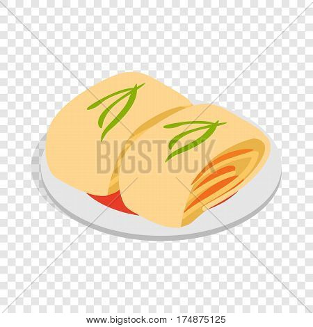 Kimchi, traditional korean food isometric icon 3d on a transparent background vector illustration