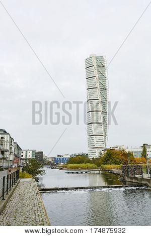 Turning Torso Skyscraper In Malmo, Sweden, Editorial