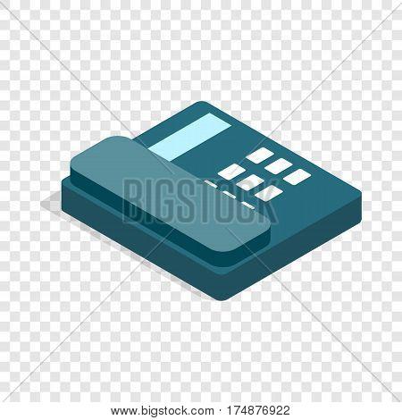 Landline isometric icon 3d on a transparent background vector illustration