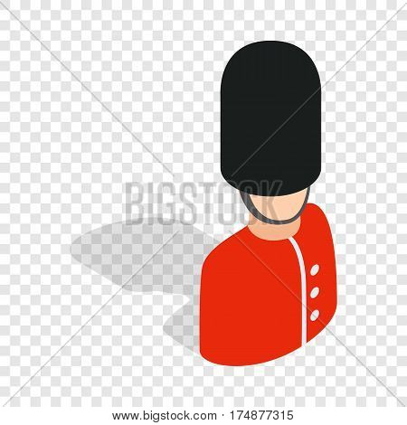 Royal guardsman isometric icon 3d on a transparent background vector illustration