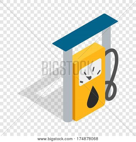 Petrol gas station isometric icon 3d on a transparent background vector illustration