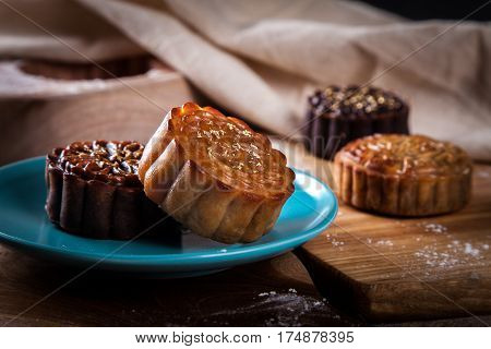 Mooncake for mid autumn festival in asia