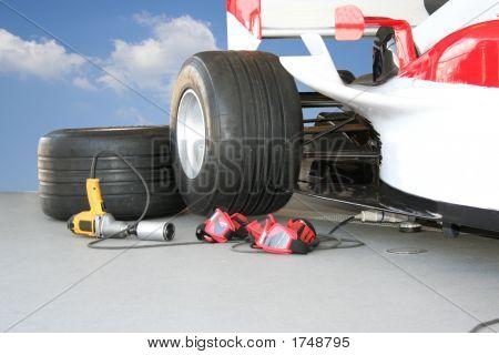 Formula - 1 Pit stop team tools poster