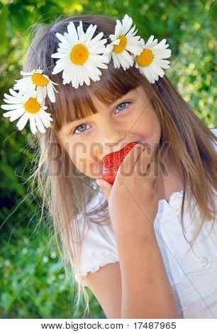 Tasting summer fruit