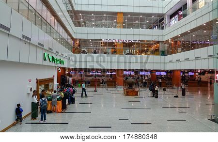 Interior Of Yangon International Airport