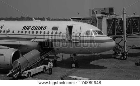 Jet Aircraft At The Yangon International Airport