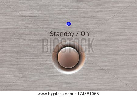On or standby button on home electronics