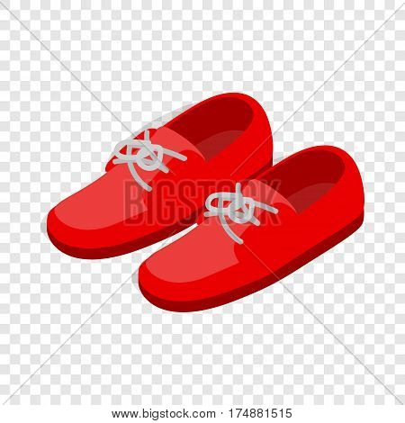 Pair of red shoes isometric icon 3d on a transparent background vector illustration