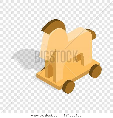 Horse trojan isometric icon 3d on a transparent background vector illustration