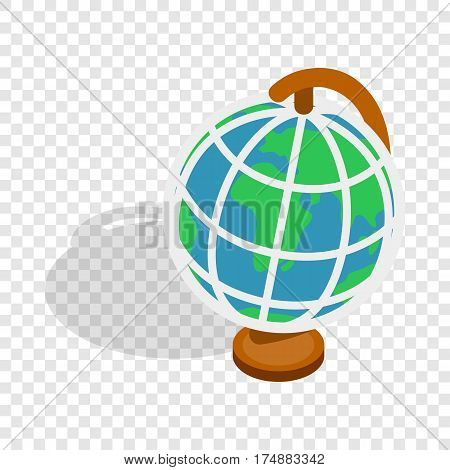 Terrestrial globe isometric icon 3d on a transparent background vector illustration