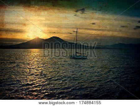 Sunrise At Naples Harbor (canvas)