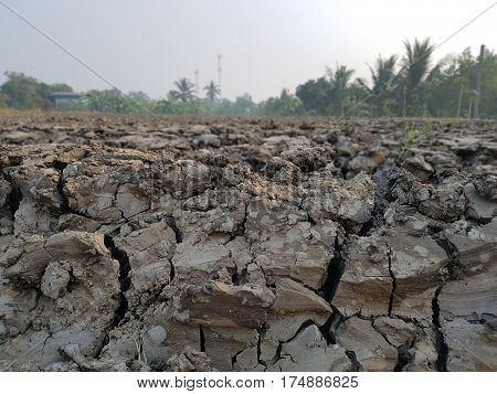 Dug up landscape,Cracked earth,Soil background and textures.