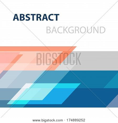 Geometric overlapping business abstract background, stock vector