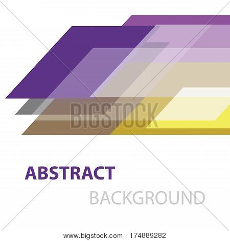 Abstract colorful geometric overlapping on white background, stock vector