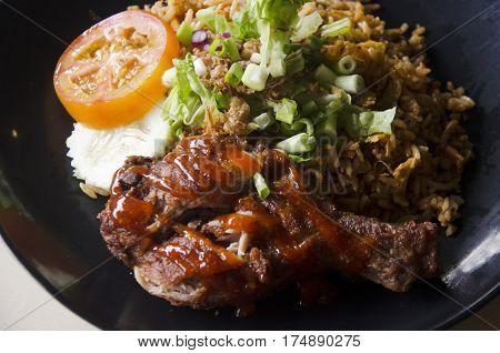 Nasi Lemak Cuisine Malaysian Style