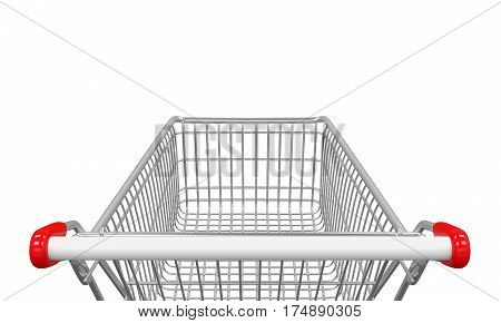 Shopping Cart isolated on white background. 3D render