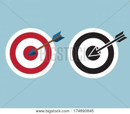 dartboard with arrow icon symbol vector illustration