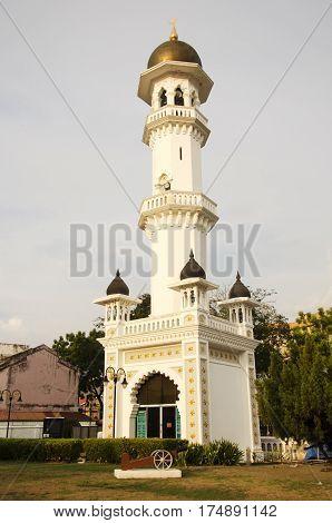 Tower In Garden Of Kapitan Keling Mosque