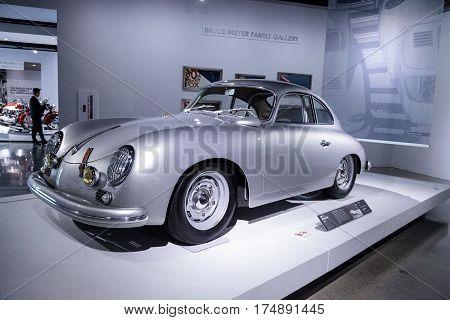 Silver 1957 Porsche 356A Coupe