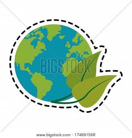 planet earth eco friendly related icons image vector illustration design