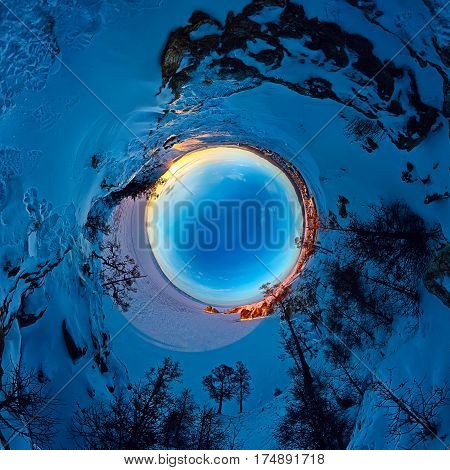 Spherical Panorama 360 180 Degrees Cape Shaman On The Island Of Olkhon, Lake Baikal