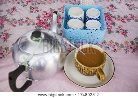Milk Tea And Tea In Pot Malaysian Style
