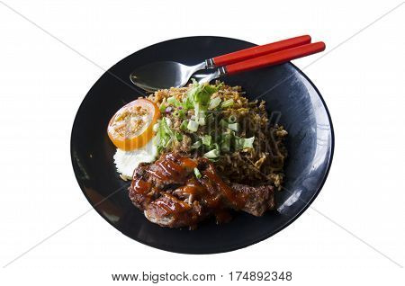 Nasi Lemak Food Or Roast Chicken Over Rice