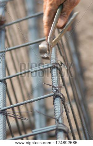 It is a bundle of steel bars To prepare pour pole construction.