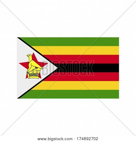 Zimbabwe, flag, national icon vector image. Can also be used for flags. Suitable for web apps, mobile apps and print media.