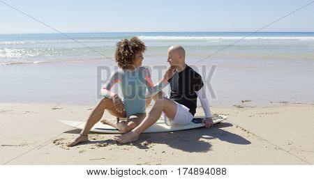 A couple at the seaside