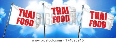 thai food, 3D rendering, triple flags