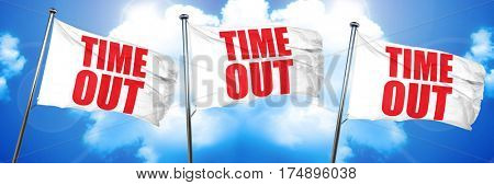 time out, 3D rendering, triple flags
