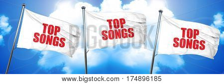 top songs, 3D rendering, triple flags